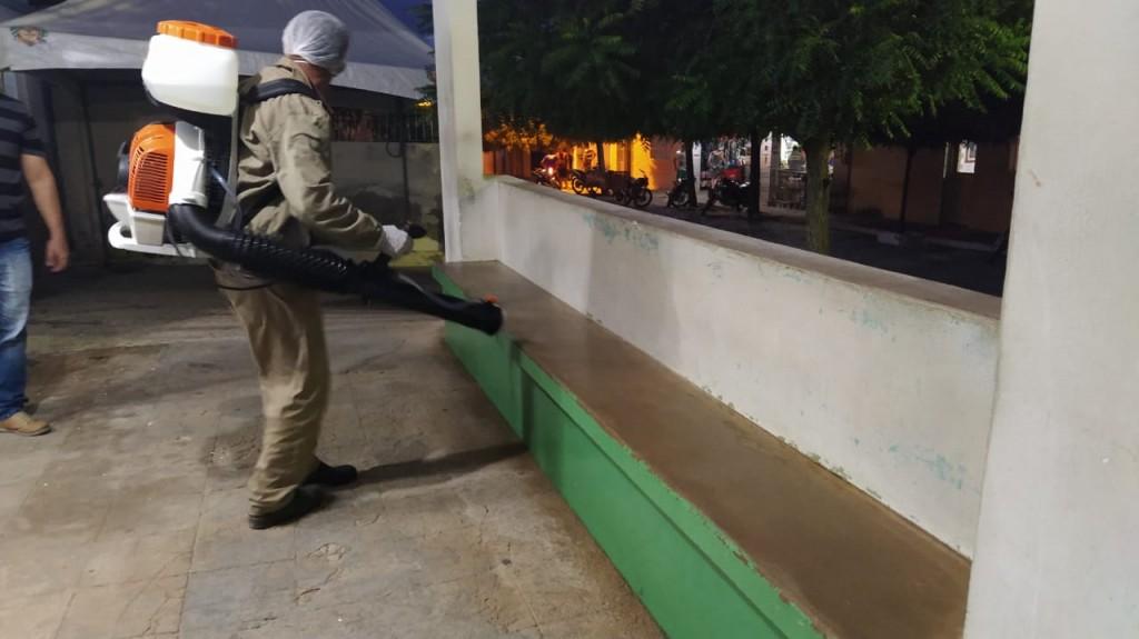 Prefeitura realiza desinfecção de locais públicos