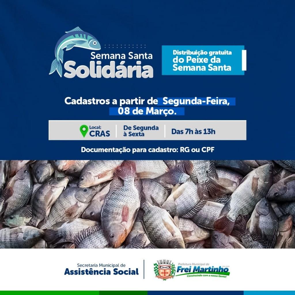 Cadastro para distribuição de peixe