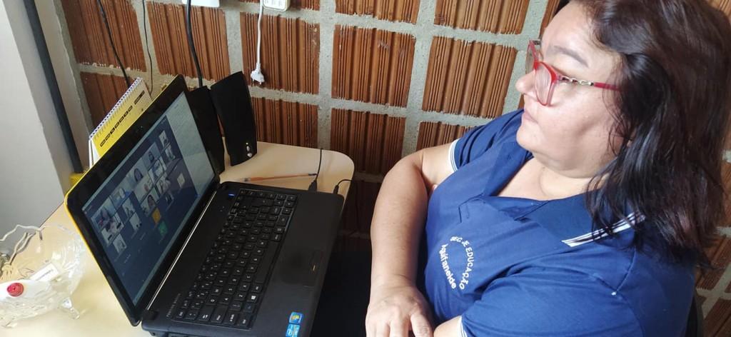 Videoconferência com Ministério Público na pasta da Educação